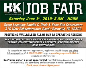 The H&K Group to Hold Job Fair on June 1st, 2019