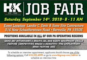 The H&K Group to Hold Job Fair on September 14, 2019